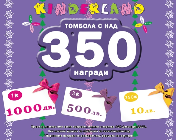 намаление детски дрехи - Томбола с над 350 награди