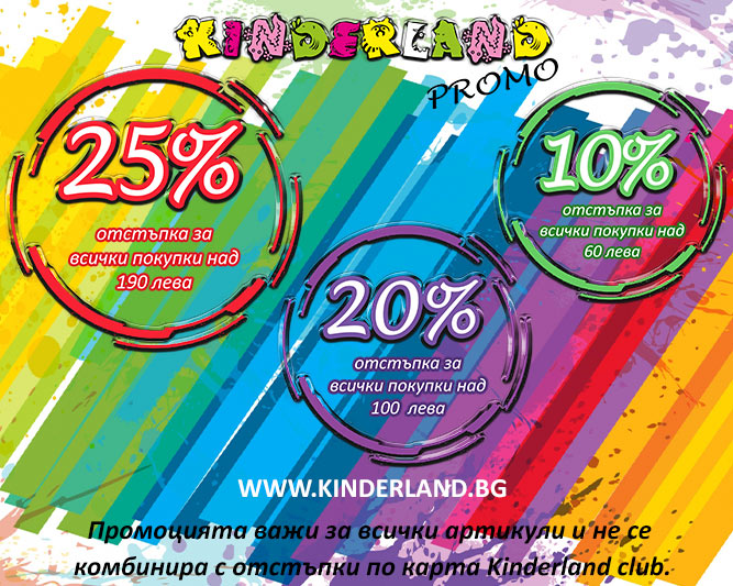 намаление детски дрехи - Дни на големите отстъпки в Kinderland