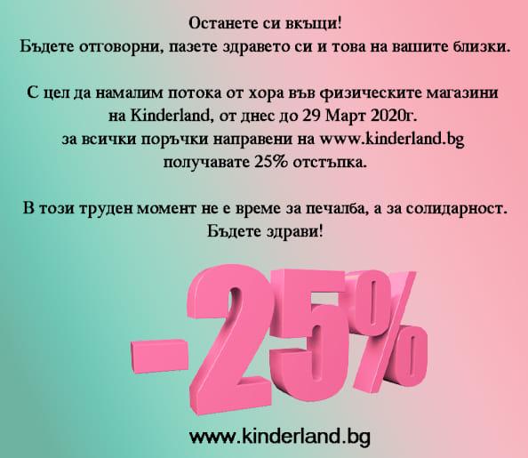намаление детски дрехи - -25% на всичко онлайн