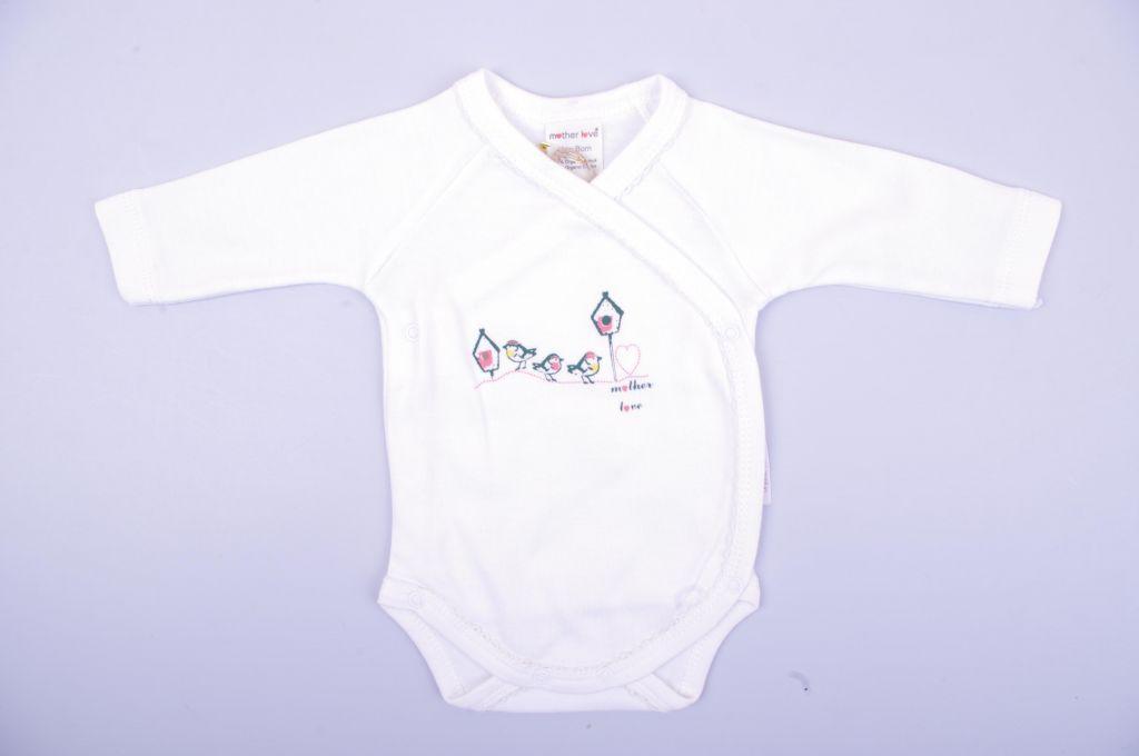 Бебешко Боди органик със странично закопчаване