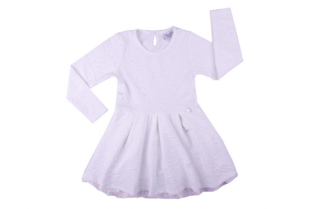 Рокля дълъг ръкав с тюл - детски дрехи