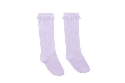 Чорапи с дантела (бял) - детски дрехи