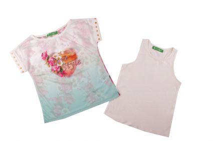 Комплект тениска с потник