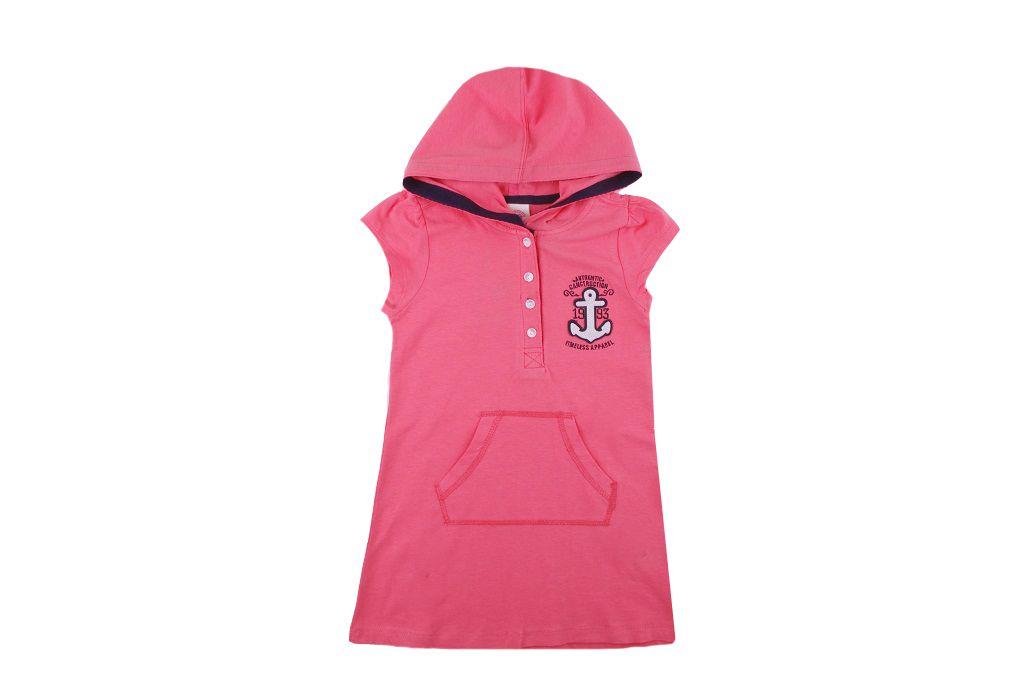 Рокля с качулка (корал) - детски дрехи
