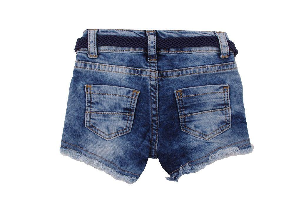 Дънкови панталонки с колан