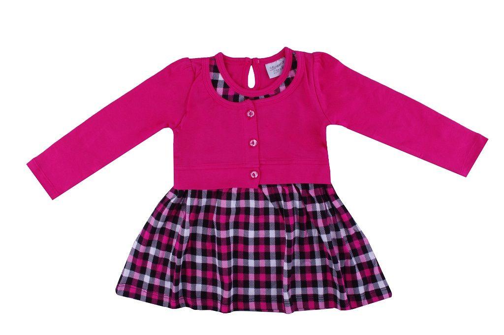 Рокля дълъг ръкав  - детски дрехи