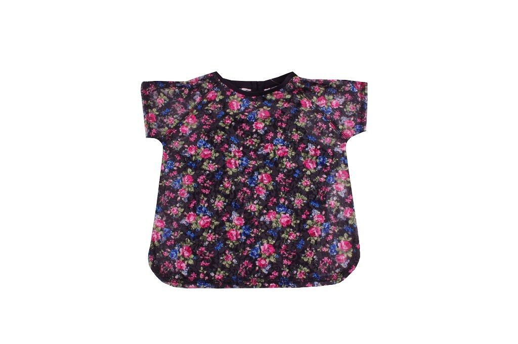 Тениска на цветя с потник