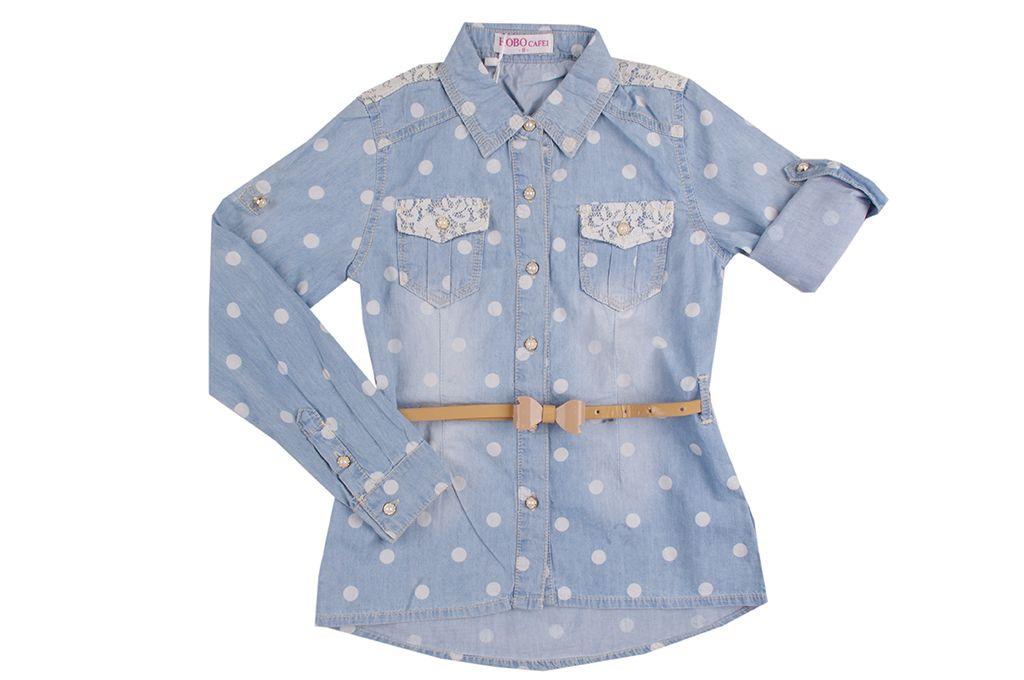 Дънкова риза момиче