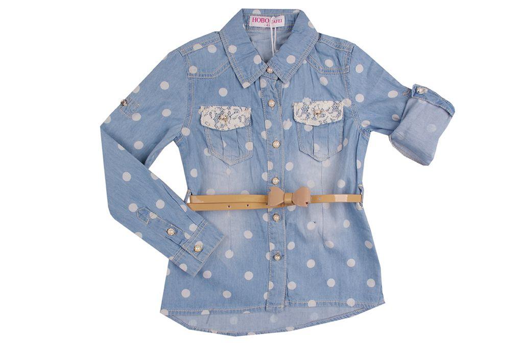 Дънкова риза момиче - детски дрехи