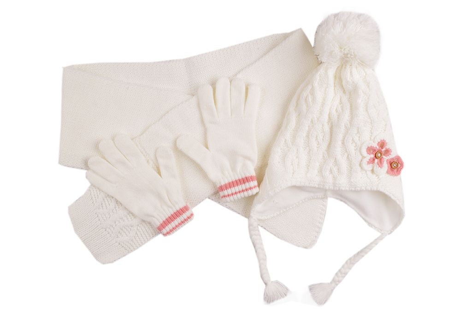 Комплект шал, шапка и ръкавици момиче