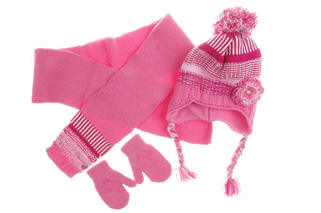 dcc1258ca50 Детски Комплект шал, шапка и ръкавици момиче