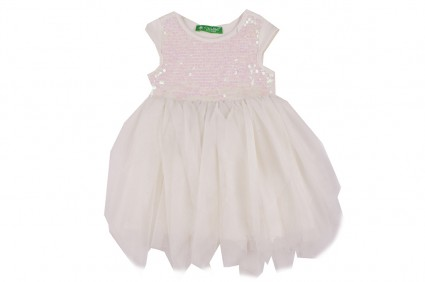 Dress with tulle