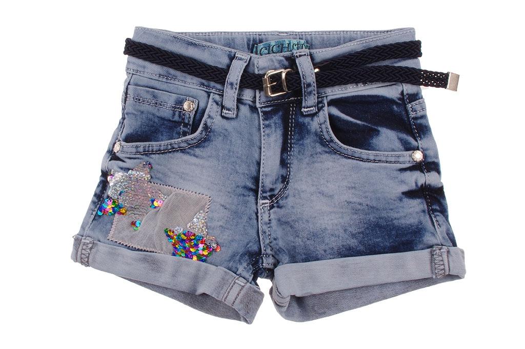 Дънкови панталонки момиче с пайети