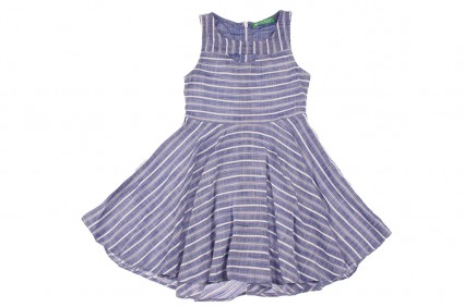 Детска Ленена рокля на райета