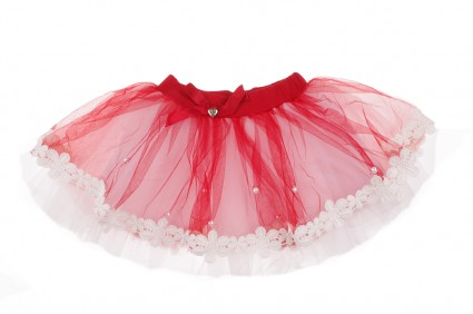 Skirt with tulle and lace