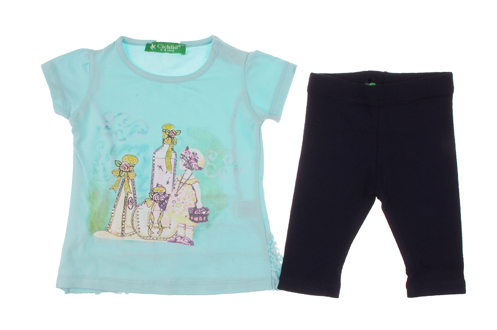 T-shirt set with wedge