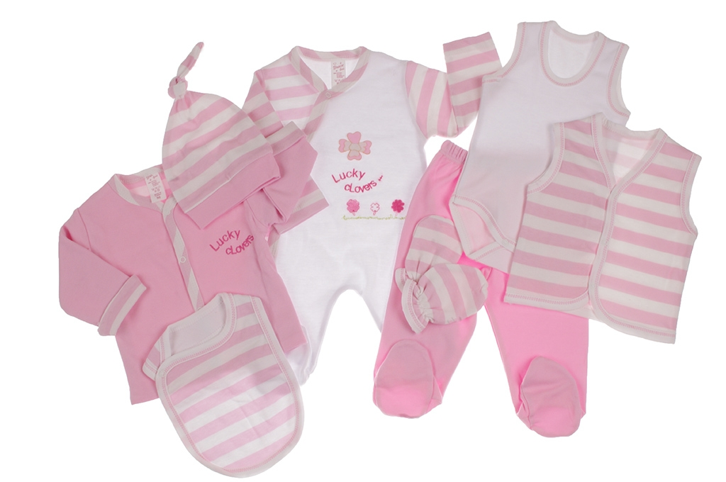Бебешки Комплект за изписване 8 части момиче