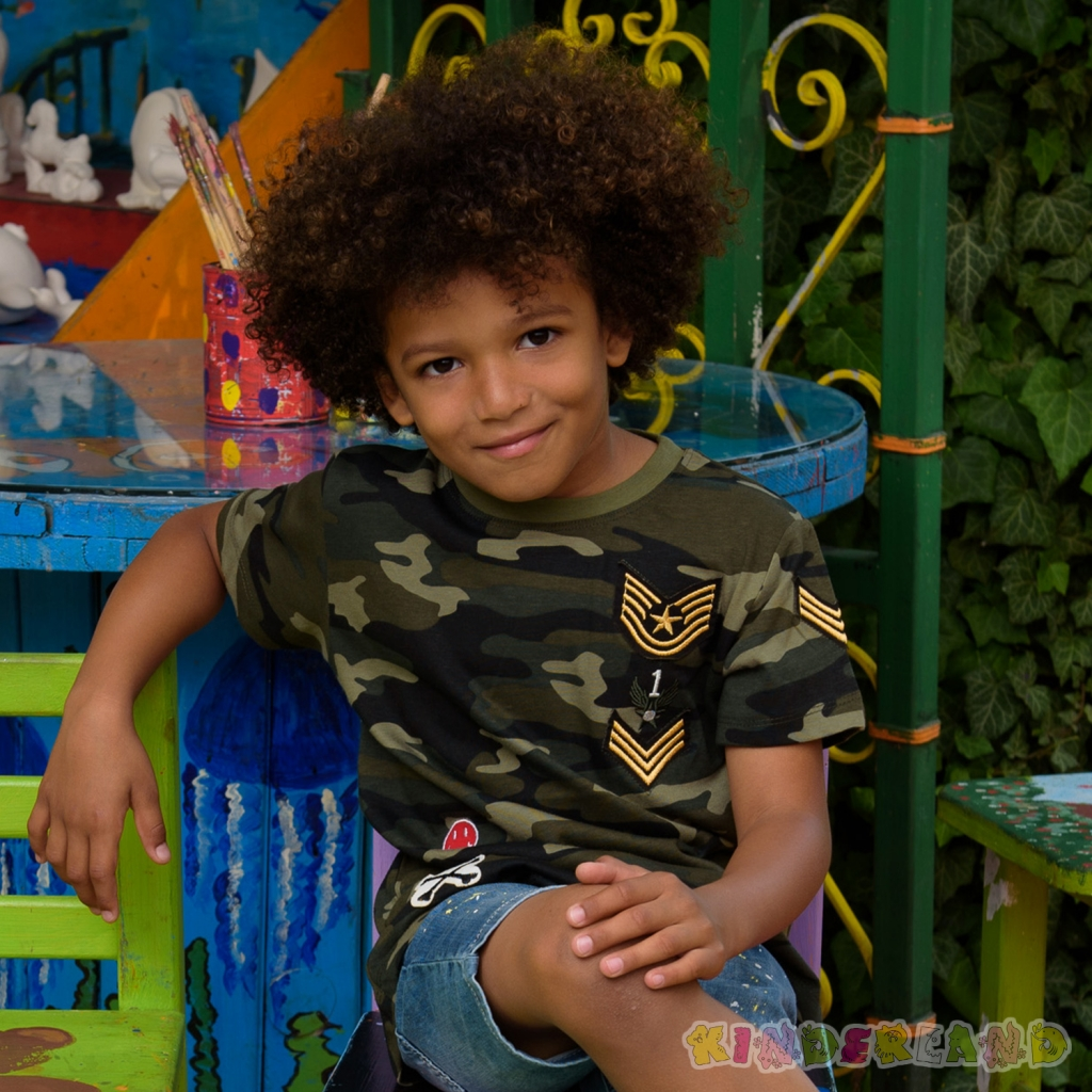 Камуфлажна тениска за момче