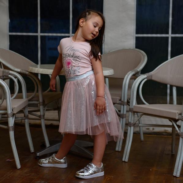 Комплект момиче тениска с пола