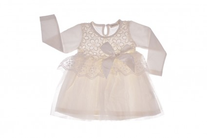 Dress with tulle long sleeve