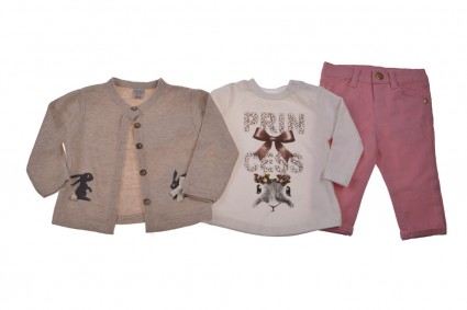 Set of long sleeve girl 3 parts
