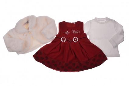 Бебешка Рокля с блуза и болеро