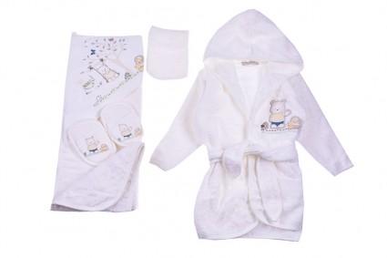 Бебешки Комплект за баня с халат момче