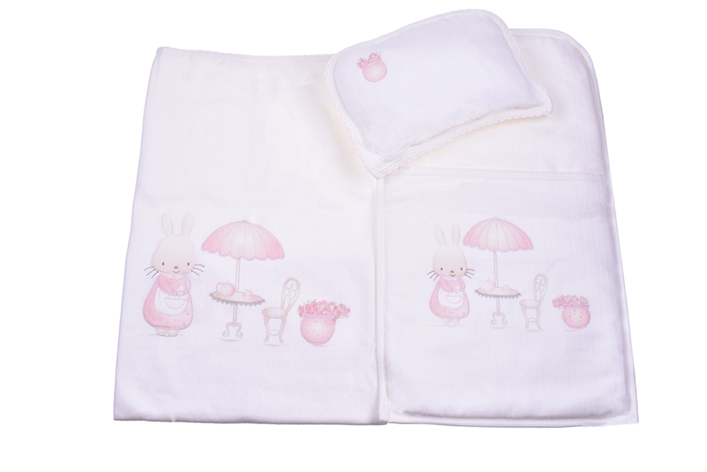 Set for stroller with pillow and diaper girl