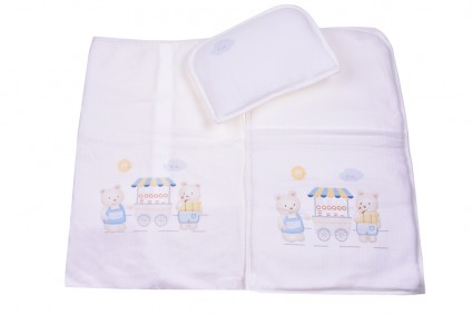 Set for stroller with cushion and diaper boy
