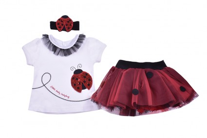 Short sleeve set for girl