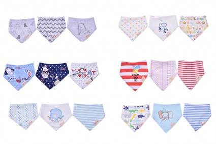 Set of 3 bibs 12 pieces in a package