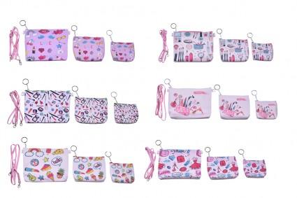 Two purse handbag with 12 pieces