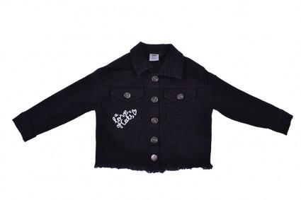 A denim jacket girl