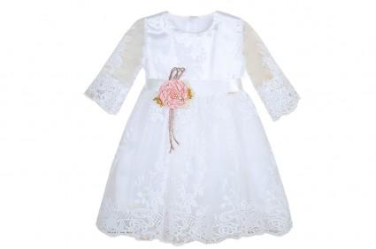 Официална рокля дълъг ръкав с дантела
