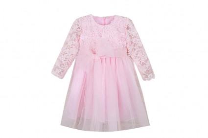 Официална рокля дълъг ръкав с тюл