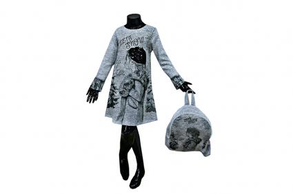 Long sleeve backpack dress