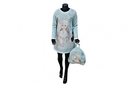 Dress long sleeve with wound