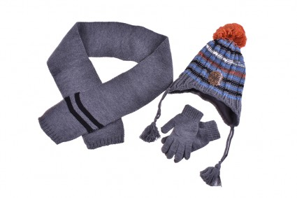 Set with hat, scarf and gloves boy