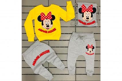 Комплект дълъг ръкав момиче 3 части - Minnie Mouse