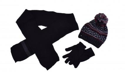 Комплект с шапка, шал и ръкавици момче