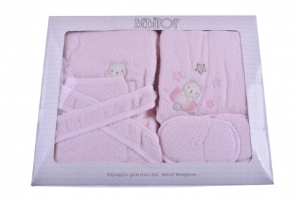 Bath set with bathrobe girl