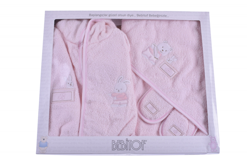 Комплект за баня с халат момиче Baby