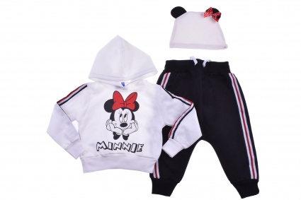 3-piece minnie mouse long sleeve set