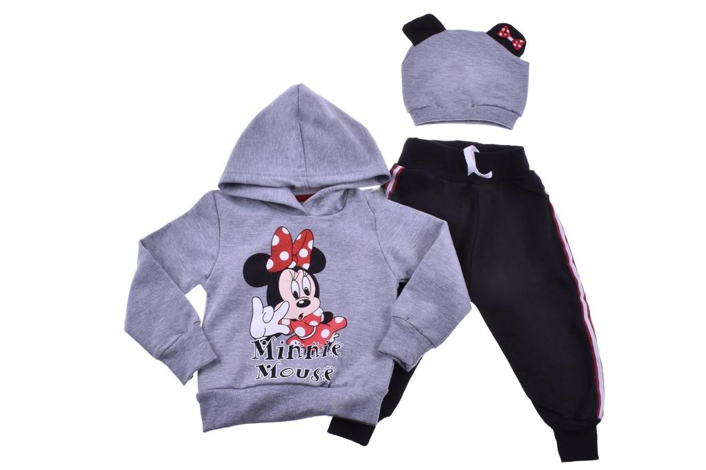 Детски Комплект дълъг ръкав момиче  3 части - Mickey  Mouse