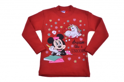 Minnie mouse long sleeve blouse