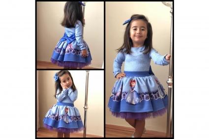 Princess sofia long sleeve dress