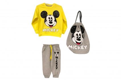 3 piece mickey mouse long sleeve boy set
