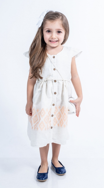 Dress short sleeve with bag