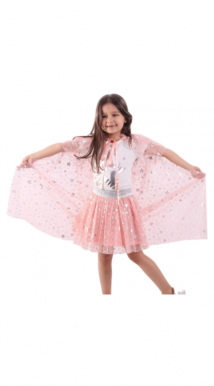 Set of short sleeve girl with cloak