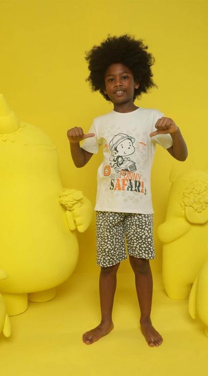 Short sleeve boy pajamas